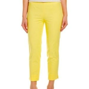 Lafayette 148 New York Pants Yellow Size 10 Crop
